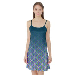 Ombre Retro Geometric Pattern Satin Night Slip