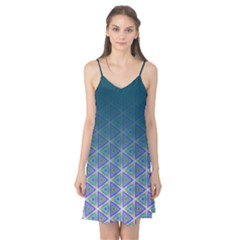 Ombre Retro Geometric Pattern Camis Nightgown
