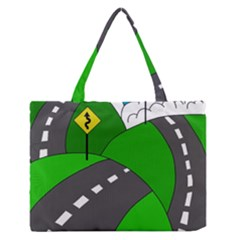 Hit The Road Medium Zipper Tote Bag by Valentinaart