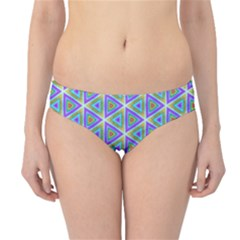 Colorful Retro Geometric Pattern Hipster Bikini Bottoms by DanaeStudio