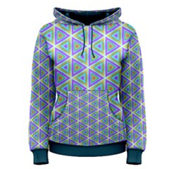 Colorful Retro Geometric Pattern Women s Pullover Hoodie by DanaeStudio