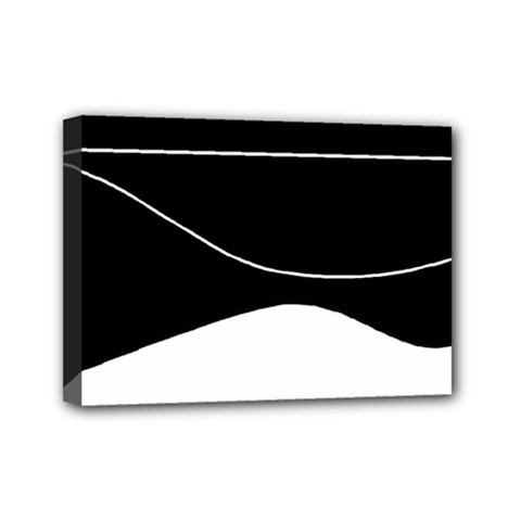 Black And White Mini Canvas 7  X 5  by Valentinaart