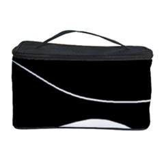 Black And White Cosmetic Storage Case by Valentinaart