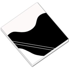 White And Black Abstraction Small Memo Pads by Valentinaart