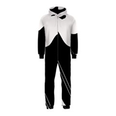White And Black Abstraction Hooded Jumpsuit (kids) by Valentinaart