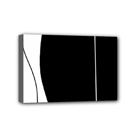White And Black 2 Mini Canvas 6  X 4  by Valentinaart