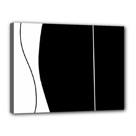 White And Black 2 Canvas 16  X 12  by Valentinaart