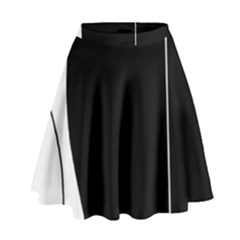 White And Black 2 High Waist Skirt by Valentinaart