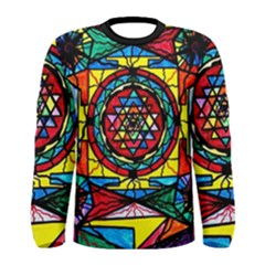 Sri Yantra - Men s Long Sleeve Tee by tealswan