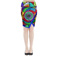 I Trust Myself To Create   Midi Wrap Pencil Skirt by tealswan