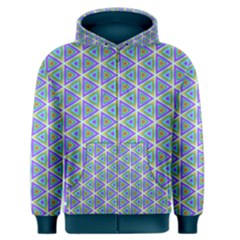 Colorful Retro Geometric Pattern Men s Zipper Hoodie