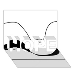 Waves   Black And White Hope 3d Greeting Card (7x5) by Valentinaart