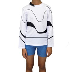 Waves   Black And White Kids  Long Sleeve Swimwear