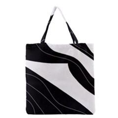 White And Black Decorative Design Grocery Tote Bag by Valentinaart
