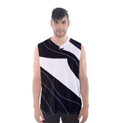 White And Black Decorative Design Men s Basketball Tank Top