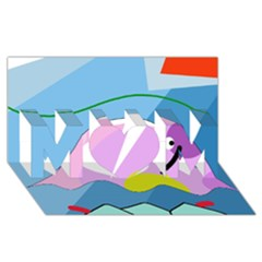Under The Sea Mom 3d Greeting Card (8x4) by Valentinaart