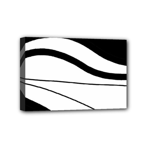 White And Black Harmony Mini Canvas 6  X 4  by Valentinaart