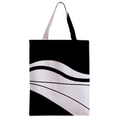 White And Black Harmony Zipper Classic Tote Bag by Valentinaart