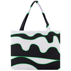 Green, White And Black Mini Tote Bag