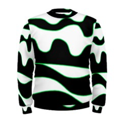 Green, White And Black Men s Sweatshirt by Valentinaart
