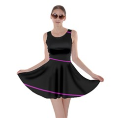Purple, White And Black Lines Skater Dress by Valentinaart