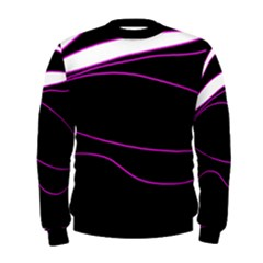 Purple, White And Black Lines Men s Sweatshirt