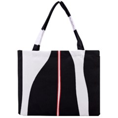 White, Red And Black Mini Tote Bag by Valentinaart