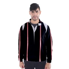 White, Red And Black Wind Breaker (men) by Valentinaart