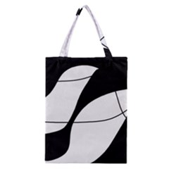 White And Black Shadow Classic Tote Bag by Valentinaart