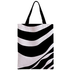 White Or Black Zipper Classic Tote Bag by Valentinaart