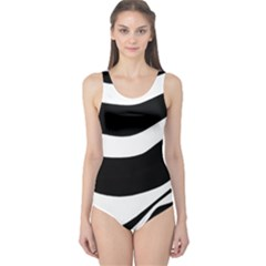 White Or Black One Piece Swimsuit