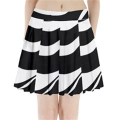 White Or Black Pleated Mini Skirt by Valentinaart