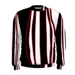 White, Red And Black Lines Men s Sweatshirt