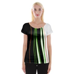 Colorful Lines Harmony Women s Cap Sleeve Top by Valentinaart