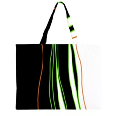 Colorful Lines Harmony Zipper Large Tote Bag by Valentinaart