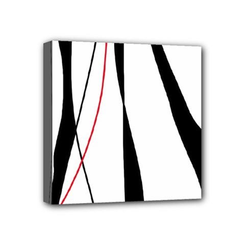 Red, White And Black Elegant Design Mini Canvas 4  X 4  by Valentinaart