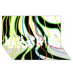 Colorful Lines   Abstract Art Best Bro 3d Greeting Card (8x4)