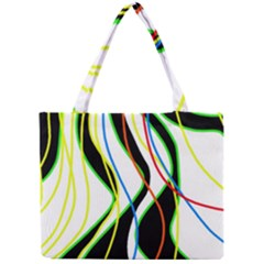Colorful Lines   Abstract Art Mini Tote Bag