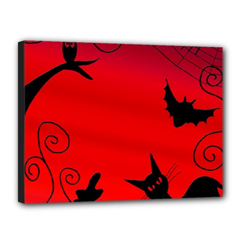 Halloween Landscape Canvas 16  X 12  by Valentinaart