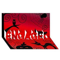 Halloween Landscape Engaged 3d Greeting Card (8x4)