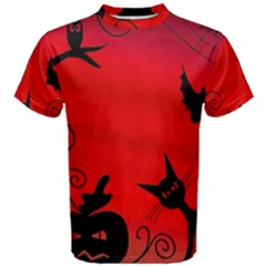 Halloween Landscape Men s Cotton Tee