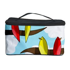 Parrots Flock Cosmetic Storage Case by Valentinaart