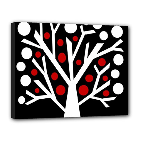 Simply Decorative Tree Canvas 14  X 11  by Valentinaart