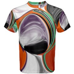 Abstract Orb In Orange, Purple, Green, And Black Men s Cotton Tee