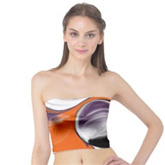 Abstract Orb In Orange, Purple, Green, And Black Tube Top