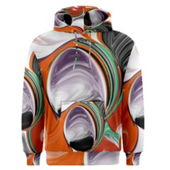 Abstract Orb In Orange, Purple, Green, And Black Men s Pullover Hoodie by digitaldivadesigns