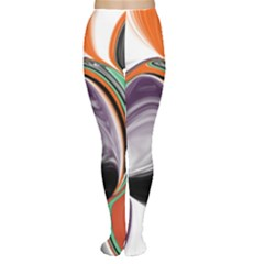 Abstract Orb In Orange, Purple, Green, And Black Women s Tights