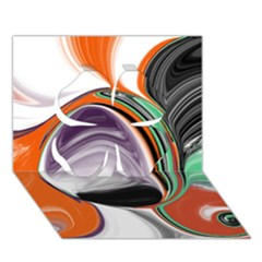 Abstract Orb Clover 3d Greeting Card (7x5) by digitaldivadesigns