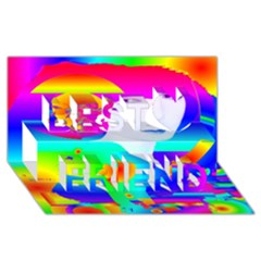 Abstract Color Dream Best Friends 3d Greeting Card (8x4) by icarusismartdesigns