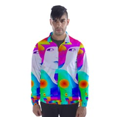 Abstract Color Dream Wind Breaker (men) by icarusismartdesigns